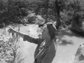Helen Harris Weaver, on vacation to Yellowstone National Park, 1953
