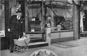 Scene of where baby Corinne Modell was kidnapped. Modell's Upholstery Store at 116 South Sixtieth Street, Philadelphia.