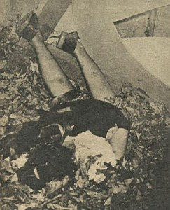 The victim's body as it was discovered.