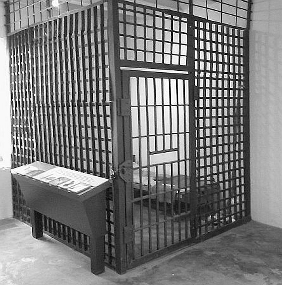 Old-Cherokee-Nation-Prison-Cell Flat Iron Bar Cell
