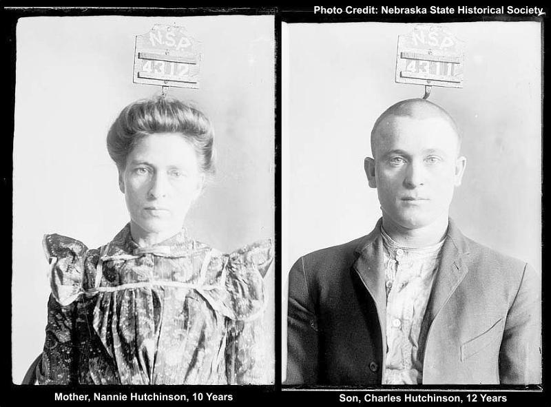 Nannie & Charles Hutchinson, Mother & Son Murderers in Rural Nebraska, 1903