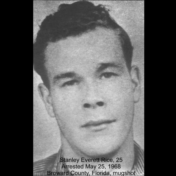 Serial Killer Stanley Rice mugshot, 1968