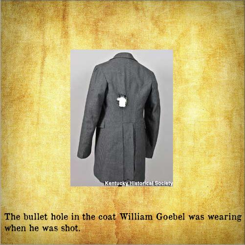 Goebels coat showing bullet hole