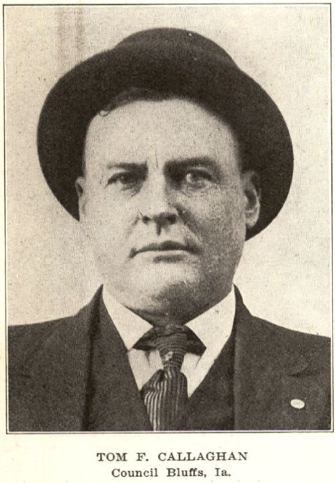 Chief of Detectives, Council Bluffs, Iowa, Tom Callaghan, 1903